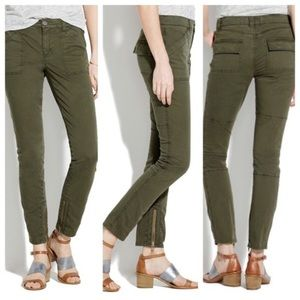 Madewell Fatigue Skinny Zipper Pants